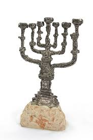 shabbat menorah lot 12837 a silver gilt bronze shabbat menorah by salvador dali