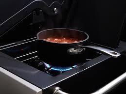 cuisine design rotissoire barbecue gaz siesta612 5 brûleurs 14 5kw sur chariot réchaud