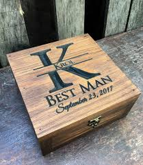 wood gifts for him groomsmen gift 6 rustic cigar boxes flasks with laser engraved
