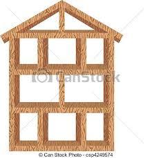 wood framed wood house frame vector illustration of a wood framed eps