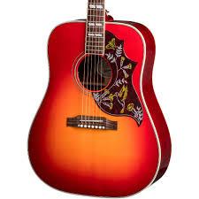 Impressive Vintage Nuance Gibson Acoustic 2018 Hummingbird Guitar Vintage Cherry Sunburst