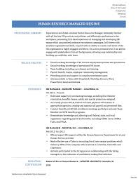 recruiting manager resume template human resources manager resume exles sles vesochieuxo