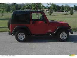 2005 flame red jeep wrangler sport 4x4 right hand drive 31257150