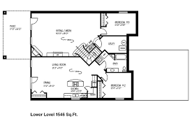 Walkout Ranch House Plans House With Basement Plans And House Plans With Basements Walkout