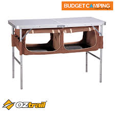 folding table with storage oztrail folding table with storage budget cing