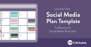 free social media plan template