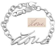 bracelet with name handwriting bracelet personalized bracelet with name