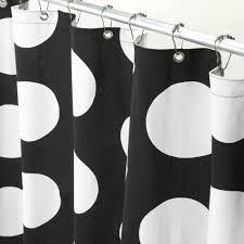 Black Shower Curtain Hooks Black And White Polka Dot Shower Curtain Hooks Shower Curtains
