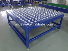 roller ball table top photo roller conveyor table images stainless steel table top