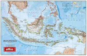 National Geographic Topo Maps Indonesia Wall Map Laminated By National Geographic L Free Maps
