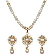 gold sets design buy classique designer silver alloy with gold plated pearl