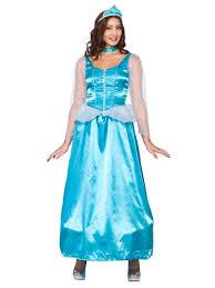 ladies ice blue snow queen fancy dress costume princess