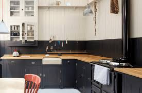 painted kitchen cabinet ideas freshome black and white dual tone kitchen