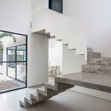 Precast Concrete Stairs Design Warm Architects Completes House With A Cast Concrete Staircase