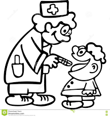 funny doctor kids coloring pages stock illustration image 81850133