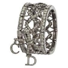 monogram bangle bracelet christian vintage gold toned signature monogram bangle