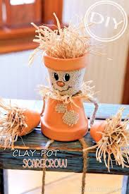 project thanksgiving diy clay pot scarecrow u2013 top easy interior design project for