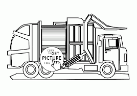 cool garbage truck coloring kids transportation pages