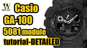 g shock ga 100 module 5081 user manual and a very detailed