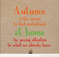 home season autumn card with quote