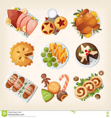traditional christmas food stock vector image 81823916