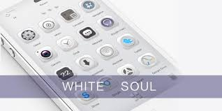 white soul go launcher theme android apps on play