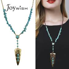 pendant necklace long chain images Indian style tibetan jewelry antique gold silver with turquoise jpg