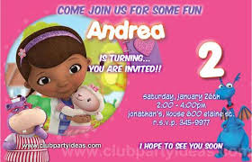 mcstuffins printable birthday party invitations