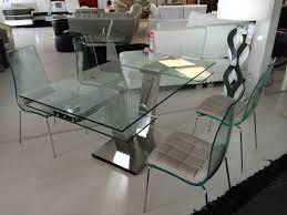 Table En Verre Avec Rallonges by Table Repas Design Verre Extensible Vinci Eda Concept Chateau D