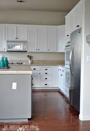 Spraying Kitchen Cabinets Diy Painted Kitchen Cabinet Update Reveal Hometalk