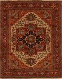 Indian Area Rugs Indian Serapi Red Rectangle 12x15 Ft Wool Carpet 16703