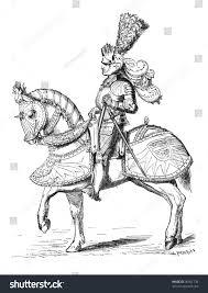 16th century knight tournament armouroriginally published stock