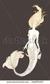 mermaid drawing stock images royalty free images u0026 vectors