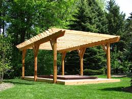 delightful pine wooden pergola design plans for your backyard