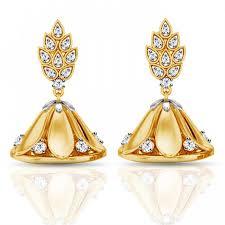 fancy jhumka earrings diamond earring leaf jhumka jacknjewel