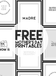 5 free mother u0027s day printables little inspiration