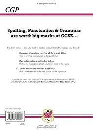 spelling punctuation and grammar for grade 9 1 gcse workbook
