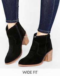 womens boots uk asos asos riva leather boots black suede womens asos other