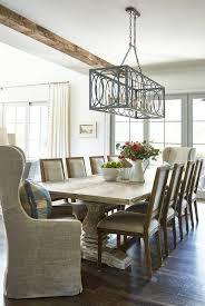 Light Dining Chairs Whitewashed Trestle Dining Table With Light Gray Square