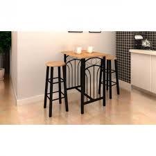 achat bar cuisine lot avec une table haute de bar et 2 tabourets p achat vente
