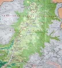 Kathmandu Nepal Map by Pokhara Muktinath Mustang Damodar Kunda Trekking 2008