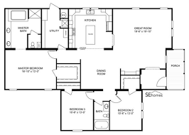 clayton triple wide mobile homes clayton manufactured homes floor plans ranch double wide home