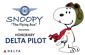 Snoopy Flags Delta Names Snoopy Flying Ace An Honorary Pilot Delta News Hub