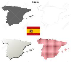 Spain Map World by Spain Outline Map Set Royalty Free Cliparts Vectors And Stock
