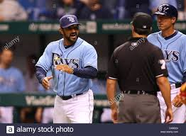 july 18 2011 st petersburg florida u s tampa bay rays bench