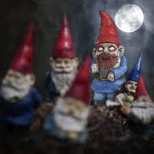 halloween garden gnomes amazon com thumbs up zombie garden gnome sports fan stepping