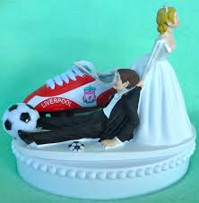 wedding cake topper liverpool f c football club soccer themed