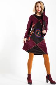 rochii casual rochie casual catifea bordo cu gluga de boemurban ro