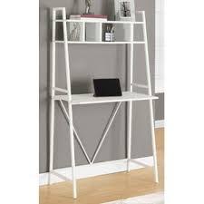 desk and bookshelves leaning u0026 ladder desks you u0027ll love wayfair