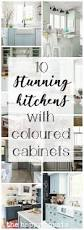 Lower Cabinets 10 Stunning Farmhouse Kitchens With Coloured Cabinets The Happy